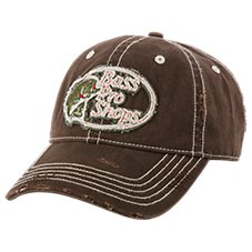 Bass Pro Shops Distressed Seams Frayed Edge Cap