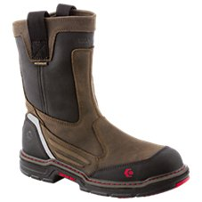 Wolverine Overman Waterproof Pull-On Safety Toe Work Boots for Men