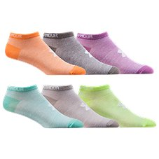 Under Armour HeatGear No Show Athletic Socks for Ladies - 6-Pair Pack