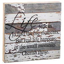 Sweet Bird & Co. Small Moments Wooden Sign