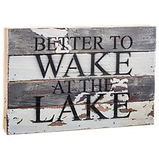 Sweet Bird & Co. Wake at the Lake Wooden Sign