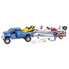 Bass Pro Shops Deluxe Ford F-250 and NITRO Bass Fishing Adventure Truck and Boat Play Set for Kids