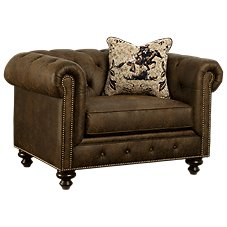 Marshfield Western Lodge Living Room Furniture Collection Chair & a Half