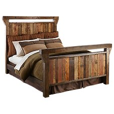 Barnwood Bedroom Furniture Collection Wood Bed