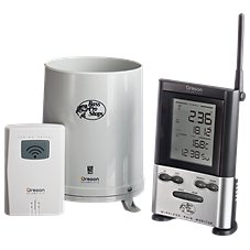 Bass Pro Shops Wireless Rain Gauge with Outdoor Temperature Display