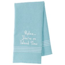 Park Designs You're On Island Time Flour Sack Dish Towel