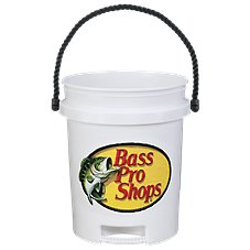 Bass Pro Shops Logo 5-Gallon Plastic Bucket with Rope Handle