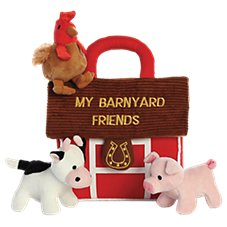 Bass Pro Shops My Barnyard Friends Baby Talk Interactive Plush Play Set for Babies