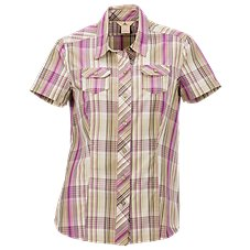 Ascend Plaid Button-Down Shirt for Ladies