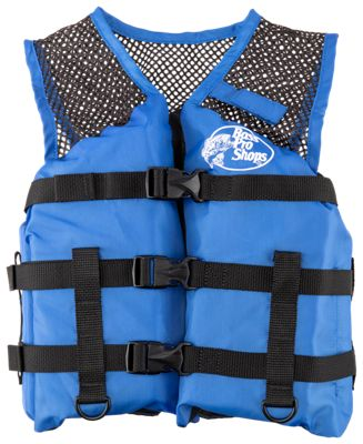 Bass pro shops basic mesh fishing life vest for kids for Bass fishing life jacket