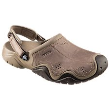 Crocs Swiftwater Leather Clogs for Men