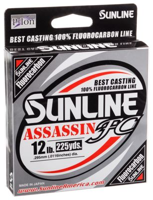 Sunline assassin fc fluorocarbon fishing line bass pro shops for Bass pro shop fishing line
