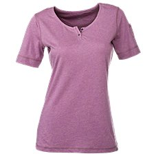 Ascend Heathered Henley for Ladies