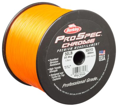 berkley prospec chrome monofilament fishing line bass
