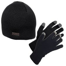 RedHead Beanie and Gloves Set for Men