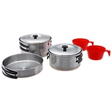 Texsport Stainless Steel Cook Set - 2-Person