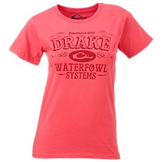 Drake Waterfowl Systems Logo T-Shirt for Ladies
