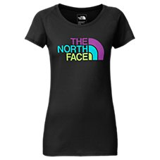 The North Face Scoop Neck Logo T-Shirt for Ladies