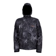 Grundens Gage Midway Hooded Softshell Camo Rain Jacket for Men