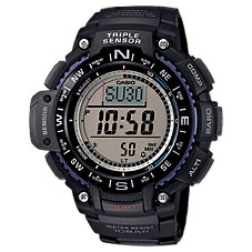 Casio Triple Sensor Digital Watch for Men with Resin Band