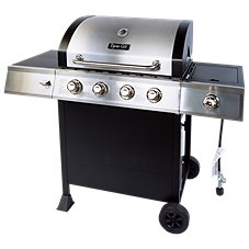 Dyna-Glo 4 Burner Propane Grill with Side Burner
