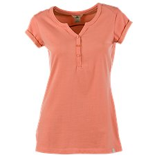 Ascend Plated Back Henley for Ladies