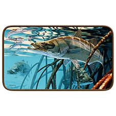 Snook in the Mangroves by Don Ray Door Mat