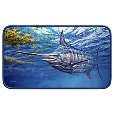Prowling Marlin by Don Ray Door Mat