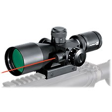 Pursuit X1 Tactical Rifle Scope with Laser Sight