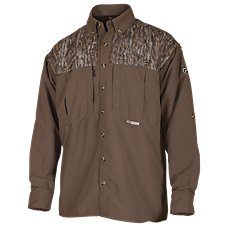 Drake Waterfowl Systems 2-Toned Vented Wingshooter's Shirt for Men