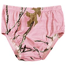 Bass Pro Shops TrueTimber Conceal Pink Camo Diaper Cover for Baby Girls
