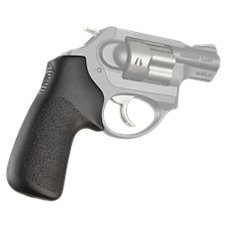 Hogue Rubber Tamer Handgun Grip for Ruger LCR without Finger Grooves