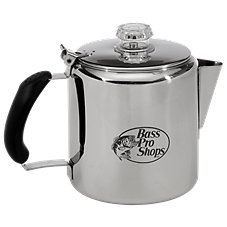 Bass Pro Shops Stainless Steel Percolator
