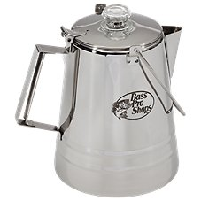 Bass Pro Shops 14 Cup Stainless Steel Campfire Percolator