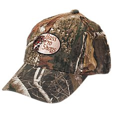 RedHead Silent-Hide Camo Hunting Cap for Youth with Bass Pro Shops Logo