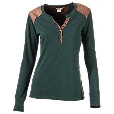 Bob Timberlake Elbow Patch Henley for Ladies