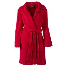 Natural Reflections Embossed Fleece Robe for Ladies