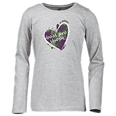 Bass Pro Shops Camo Heart Crewneck T-Shirt for Toddlers or Girls