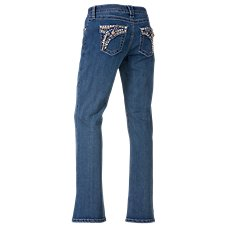 Natural Reflections Stud Flap Pocket Jeans for Ladies