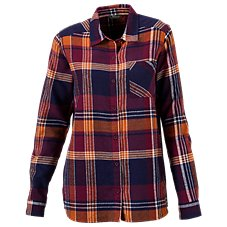 Natural Reflections Herringbone Plaid Shirt