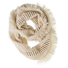 Quagga Fanfare Fringe Knit Infinity Scarf for Ladies