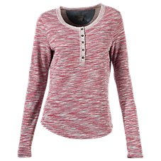 Natural Reflections Space Dye Henley for Ladies