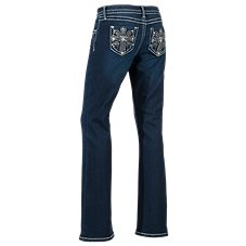 Natural Reflections Cross Bling Bootcut Jeans for Ladies