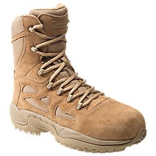Reebok Rapid Response RB 8'' Side-Zip Composite Toe Tactical Work Boots for Men