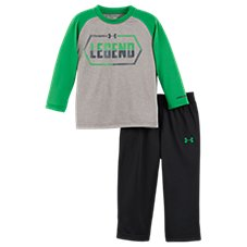 Under Armour Legend Raglan Shirt and Pants Set for Babies