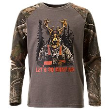 Bass Pro Shops Let's Go Hunting Raglan Shirt for Kids