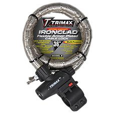 Trimax Ironclad Flexible Armor Plated Cable Lock Mounting Bracket