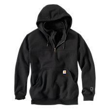Carhartt Rain Defender Paxton Heavyweight Hooded Zip Mock Sweatshirt for Men