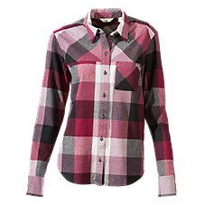 Ascend Button-Down Flannel Shirt for Ladies