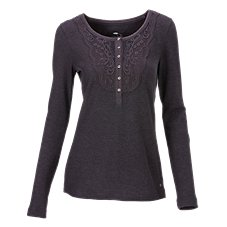 Bob Timberlake Timber Falls Crochet Waffle Henley for Ladies